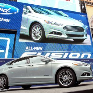 Ford Fusion In Time Square